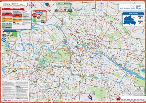Printable Maps Berlin | maps update 21051488 berlin tourist map pdf berlin