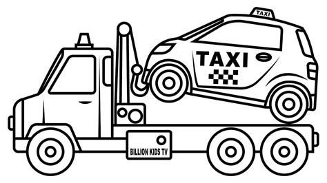 car transporter coloring page small taxi car carrier truck coloring pages colors for