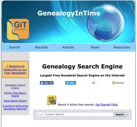 Records Free Search Engine Free Genealogy Stuff July 31st To August 6th Ongenealogy