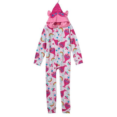 Sleeper Pajamas by Dreamworks Trolls Poppy Hooded Blanket Sleeper Pajamas