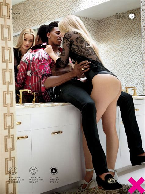 lesbians in restaurant bathroom nick young girlfriend iggy azalea photoshoot for gq magazine