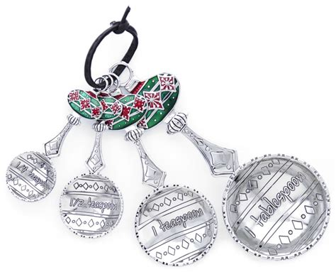 ganz measuring spoons christmas holiday ornaments