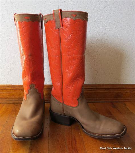 handmade ross custom cowboy boots spider web tops size 9 189 d