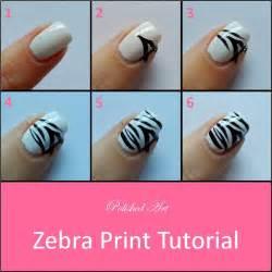 zebra nail art and tutorial