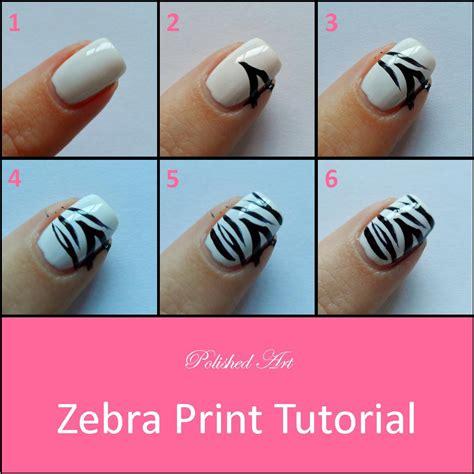 Zebra Nail Step By Step zebra nail and tutorial