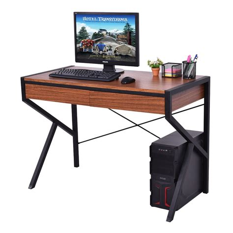 cheap sturdy computer desk wooden top computer desk sturdy workstation desks