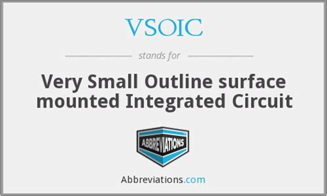Small Outline Integrated Chip by Vsoic Small Outline Surface Mounted Integrated Circuit