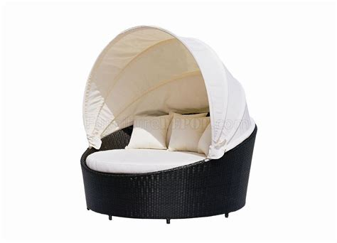 outdoor bed cushion black modern outdoor canopy bed w beige cushions
