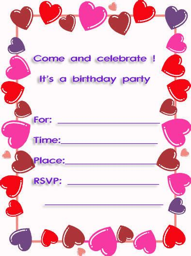 10th birthday card template sweet hearts free printable 10th birthday