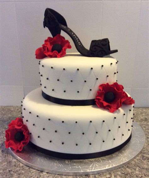 high heel birthday cake images black high heel shoe cake with flowers s