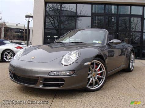 porsche slate grey metallic 2008 porsche 911 carrera s cabriolet in slate grey