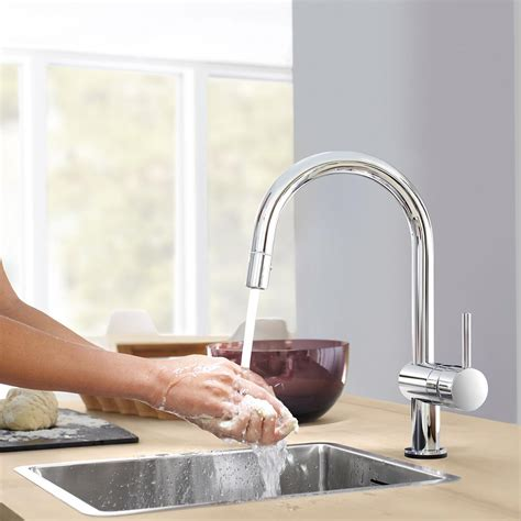 Minta Touch Faucet by Minta Touch Single Handle Pull Kitchen Faucet Touch