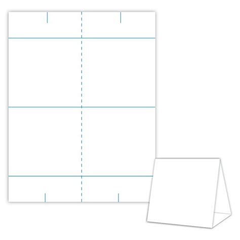 table number tent cards template table tent design template blank table tent white