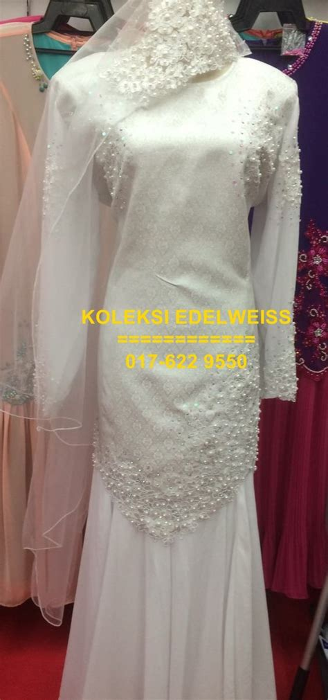 Baju Nikah Jubah Moden koleksi edelweiss koleksi baju pengantin tunang jubah muslimah eksklusif moden terkini gaun