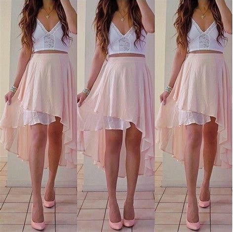 light pink high low skirt celeste stuff