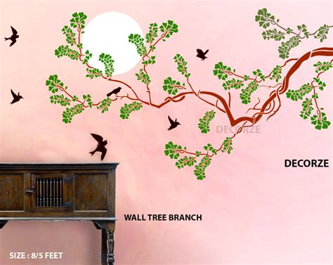 tree branch wall stencil large stencils tree stencils large