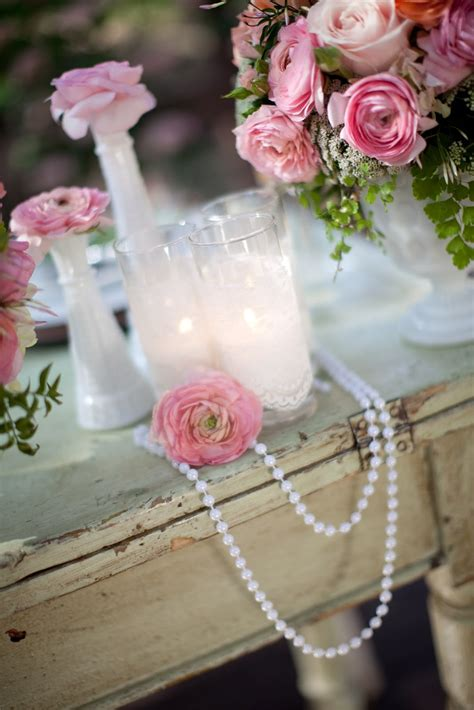 pearls and garden wedding inspiration for