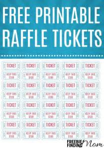 raffle ticket printing template free printable raffle tickets