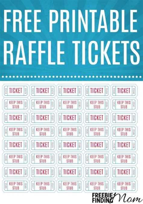 search results for printable raffle tickets sheets