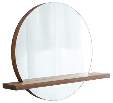 round bathroom mirror with shelf native trails woven strand shelf for mirror 28