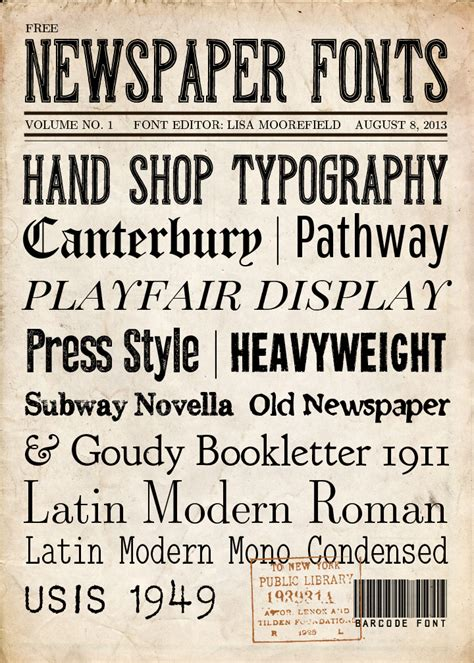 Newspaper Theme Fonts | free newspaper fonts and backgrounds love these for the
