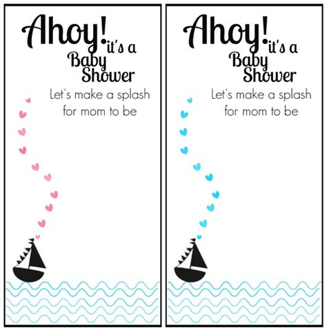 Nautical Baby Shower Printables Free by Free Printable Nautical Themed Baby Shower Invitation