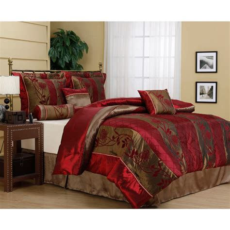 walmart bedroom comforter sets rosemonde 7 piece bedding comforter set walmart com