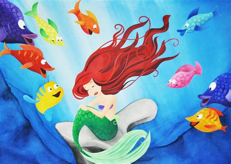 little mermaid disney cartoon fishes hd wallpaper little mermaid disney fantasy animation cartoon adventure