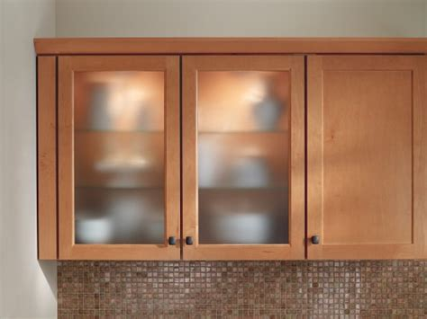 How To Insert Glass In Cabinet Doors Frosted Glass Inserts From Waypoint Living Spaces Shown In Style 410 In Maple Spice