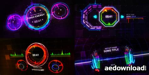 Techno Music Visualizer Videohive Free After Effects Adobe After Effects Visualizer Template