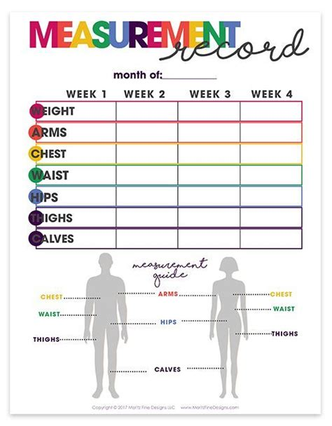 weight loss goal chart printable google search planners