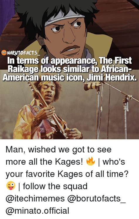 Jimi Hendrix Meme - first raikage jimi hendrix www pixshark com images