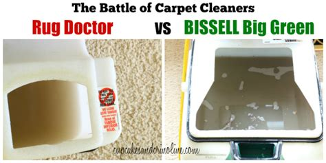 Is Rug Doctor Better Than Bissell by Bissell Big Green Versus Rug Doctor Home With Cupcakes