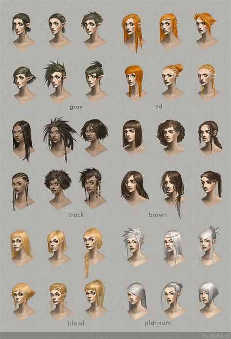 artist of hairstyle hairstyle concept art by telthona on deviantart