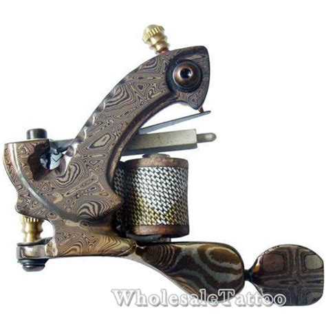 hand tattoo equipment hand made custom liner damascus tattoo machine