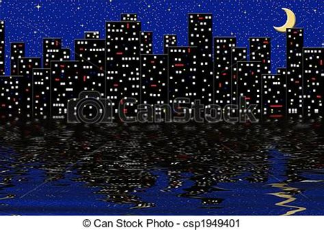 city light and water graphic city lights reflecting on water clipart search