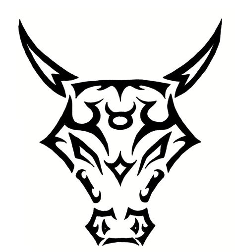 zodiac signs taurus tattoo designs tribal taurus zodiac symbol design tattooshunt
