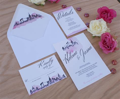 City Themed Wedding Invitations by New York City Themed Wedding Invitations