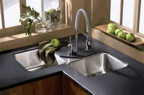 kitchen corner sinks corner kitchen sink ideas for best cooking experience