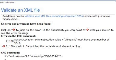 xml number xml validation against xsd schemalocation value must have