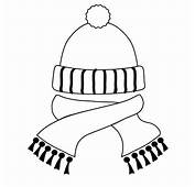 Hat And Scarf In Winter Season Coloring Page  Sky