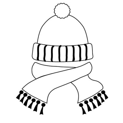 coloring pages of winter scarves winter clothes coloring pages getcoloringpages com