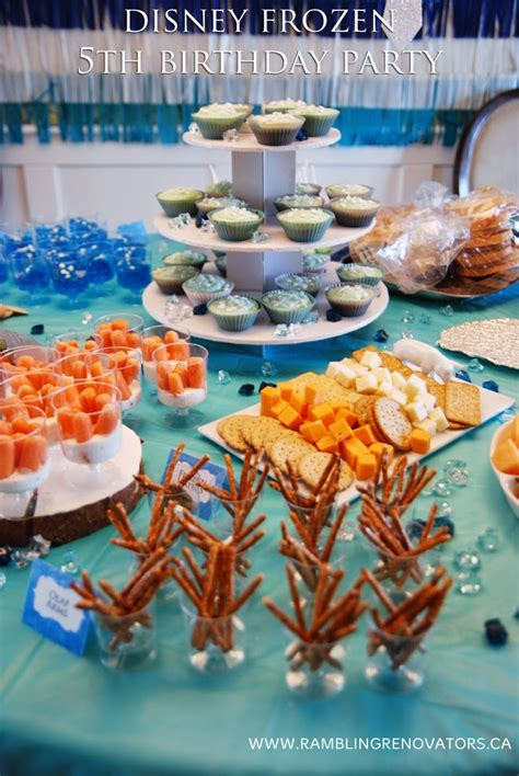 frozen themed birthday food a frozen 5th birthday party rambling renovators