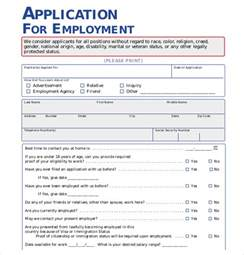 employee application template application form templates 10 free word pdf documents