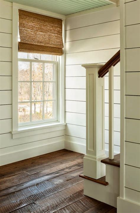 simple floor planked stairwall wide baseboards simple moulding