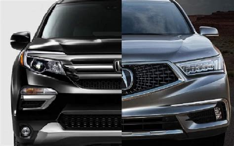 Acura Mdx 2019 Vs 2020 by 2019 Acura Mdx Vs 2019 Honda Pilot 2019 2020 Suvs2019