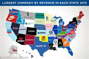 Companies Based In Map Of Usa Shows Walmart As Richest Company Of The Year