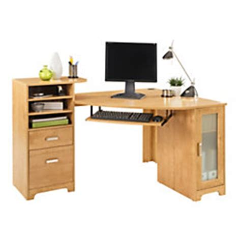 bradford corner desk bradford corner desk oak by office depot officemax