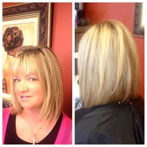 slightly layered bob long bob with light layers slightly inverted great for