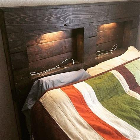 headboard with lights and storage best 25 headboard lights ideas on rustic wood